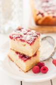 Raspberry and Yogurt Cake — Stock Photo