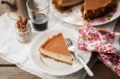 A Slice of Spiced Coffee Cheesecake — Stock Photo
