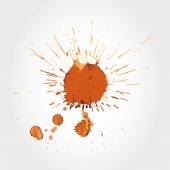 Big coffee stain — Stock Vector