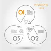 Circle and triangle inforaphic — Stockvektor