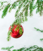 Noel topları açık havada — Stok fotoğraf