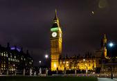 Big ben at night london uk — Stock Photo