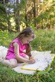 Malá holčička, kresba — Stock fotografie
