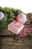 Pink Christmas composition — Stock Photo