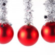 Red christmas balls isolated — Stock Photo #63018081