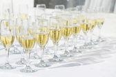 şampanya bardağı satır — Stok fotoğraf
