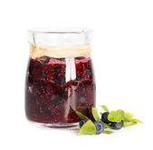 Blueberries fresh homemade jam — 图库照片