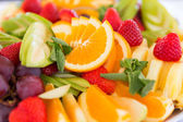 Fresh fruit party plate — Stock Photo