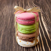 French macaroons .Dessert — Stock Photo