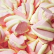 Pink and yellow Marshmallow background. — Stock Photo #63935921