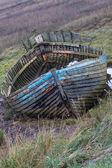 Decaying Fishing Boat, Blakeney Point — Stock Photo