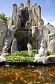 Garden in Tua Pek Kong Temple, Sitiawan, Malaysia — Stock Photo