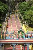 Stairs to entrance of Batu Caves Malaysia — Stock Photo