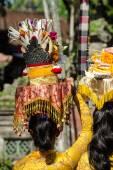 Ogoh ogoh parade a den Nyepi v Ubud, Bali, Indonésie — Stock fotografie