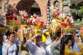 Ogoh-ogoh parade and Nyepi day in Ubud, Bali, Indonesia — Stock Photo