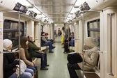 Menschen bei Moskau unterirdischen — Stockfoto