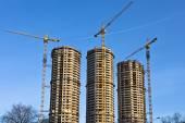 Housebuilding panorama — Stock Photo