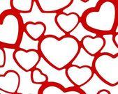 Red and white heart set background backdrop wedding valentine love romance design — Stock Photo