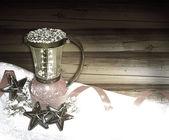 Christmas lantern and toys — Stock Photo