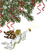 Christmas Tree and Angel — Stock Photo