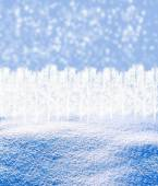 Background of snow. Winter landscape — Stock Photo