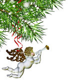 Christmas Tree and Angel — Foto de Stock