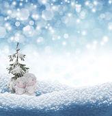 Angel and Christmas tree — Foto Stock