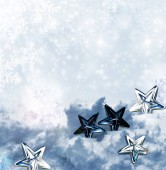 Winter background with Christmas toys — Stock Photo