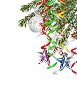 Vánoční strom zdobí hračky — Stock fotografie