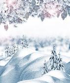 Abstracte winter achtergrond — Stockfoto