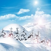 Hiver. chute de neige. — Photo
