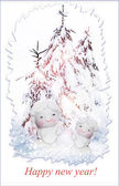 Angel and Christmas tree — Zdjęcie stockowe