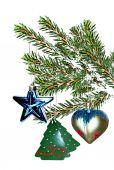 おもちゃで飾られたクリスマス ツリー — ストック写真