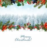 Julgran dekorerad med leksaker — Stockfoto