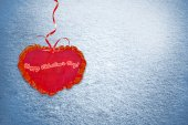 Background from snow. Heart. — Stockfoto