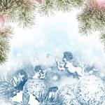 Christmas card. Angel and Christmas toys — Stock Photo #59990033