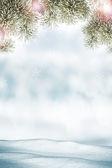 Winter. Snowfall. — Stock Photo