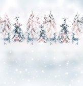 Julkort. vinterlandskap — Stockfoto