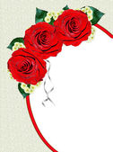 červené růže izolovaných na bílém pozadí — Stock fotografie