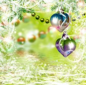 Christmas abstract background of Christmas toys. — Stock Photo