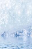 Achtergrond van sneeuw. winterlandschap — Stockfoto