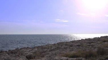 Rocky coastline of Kamenjak cape — Stock Video