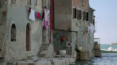 Houses by the sea, Rovinj — Stock Video