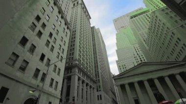 Financial District Buildings in NYC — Stock Video