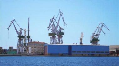 Shipyard in Pula — Stock Video