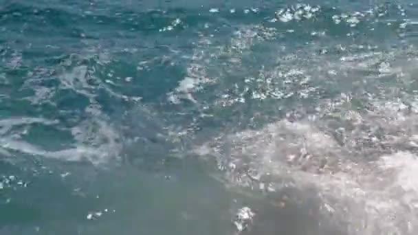 Waves hitting the coastline — Vidéo