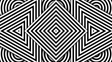 Geometric black and white shapes — Stock Video