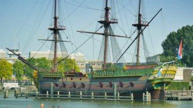 East Indiamen Amsterdam ship — Stock Video