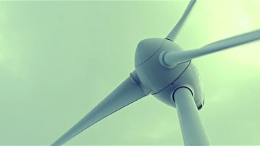 Wind power turbine — Stock Video
