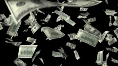 One hundred dollar banknotes explosion — Stock Video
